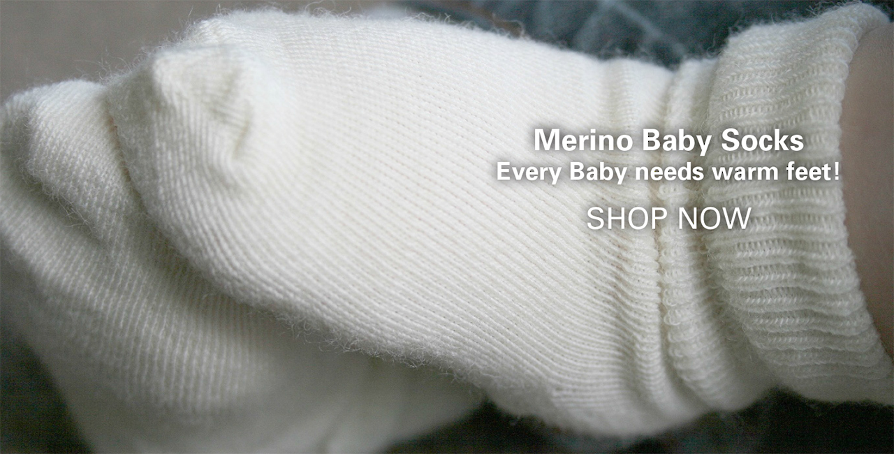 Socks for baby made from merino wool