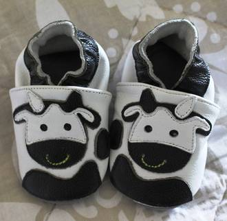 Cow Leather Baby Shoes - 0-6 M