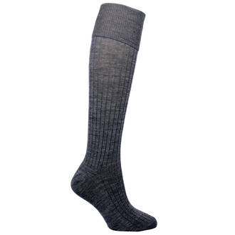 Grey School Merino Sock. pack of 2