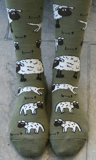 Farm Animal Merino Socks - cows & sheep