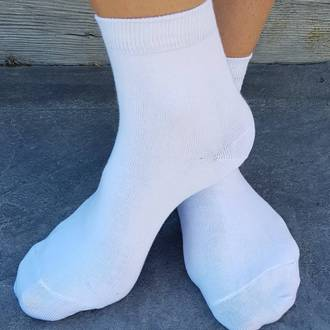 Crop Socks For School - cotton. pack of 3