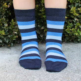 Merino Socks - Wide Stripe, pack of 2