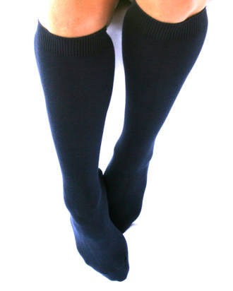 Knee High Socks for School - cotton. Pack of 3