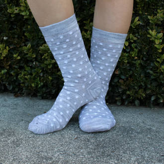 Merino Socks - Grey Dot, pack of 2