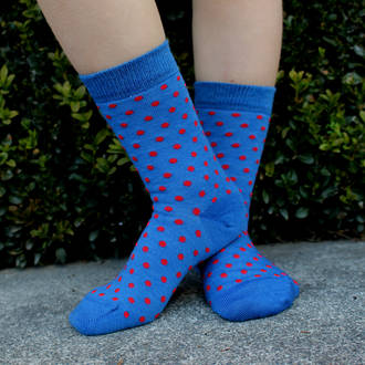 Merino Socks - Blue Dot, pack of 2