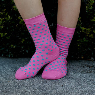 Merino Socks - Rose Dot, pack of 2