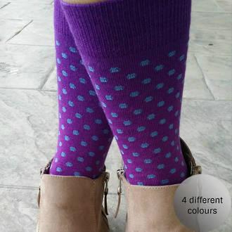 Polka Dot Merino Crew Socks