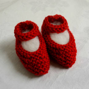 Mary Jane Merino Baby Shoes