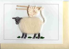Sheep with Knitting Gift Card