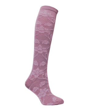 Rose Vine Knee High Merino Sock