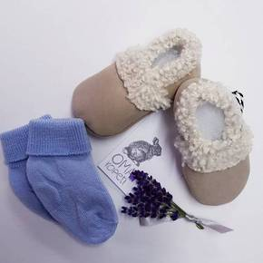 Baby Lambs Wool Booties - Oma Rapeiti