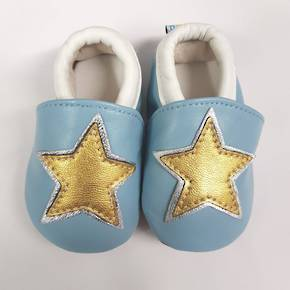 Star Leather Baby Shoes