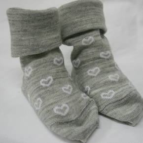 Merino Socks for Baby with Hearts. pack of 2