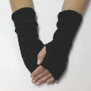 Merino Alpaca Blend Cable Arm and Hand Warmers