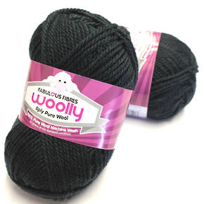 Pure 100% Wool 8 Ply Yarn - Charcoal