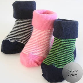 Baby Merino Socks with Stripes