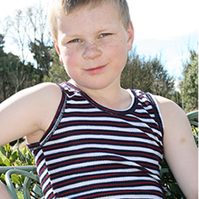 Kids Merino Long Stripe Singlet