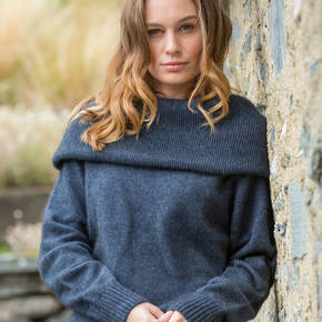 Possum Merino Women's Cowl Neck Jumper