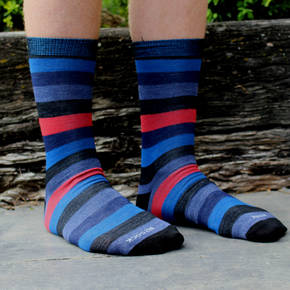 Men's Stripe Merino Socks - Blue