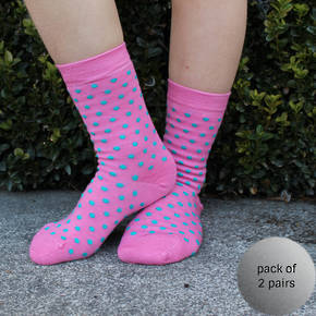 Merino Socks - Rose Dot