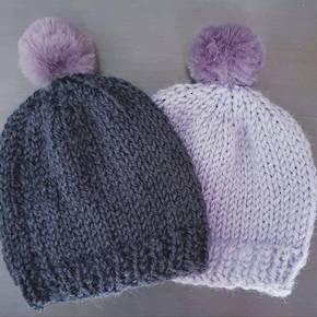7805a0f0970 Merino Baby Hat with Pom Pom