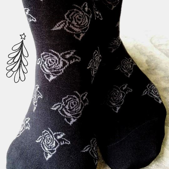 Christmas gift idea rose socks