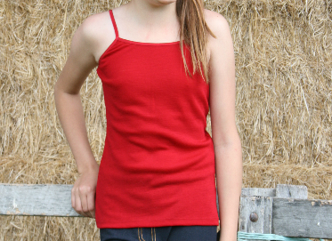 Cosy Toes school uniform merino camisole red 1