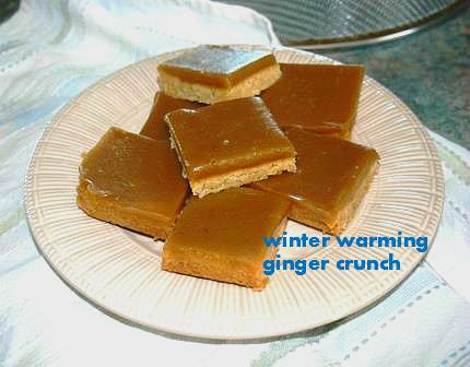 Winter Warming Ginger Crunch Recipe